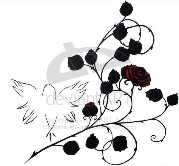 Gothic Roses Tattoo Designs