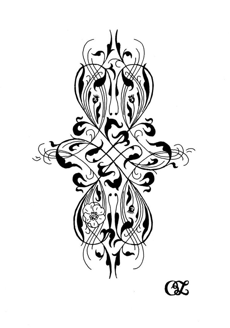 Gothic Victorian Tattoo Design