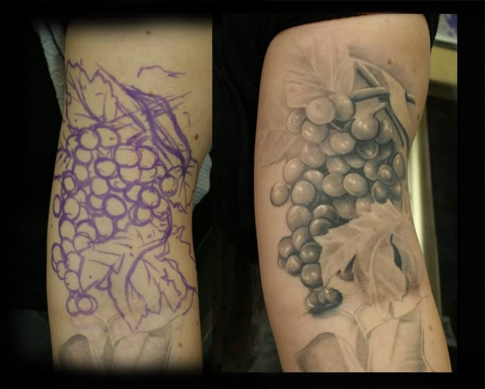 Grapes Tattoo Images