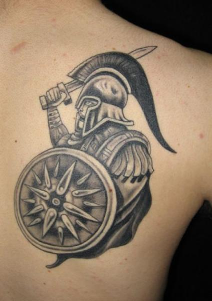 Greek Mythology Tattoo On Back Of Shoulder