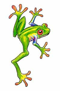Green Frog Tattoo Sample