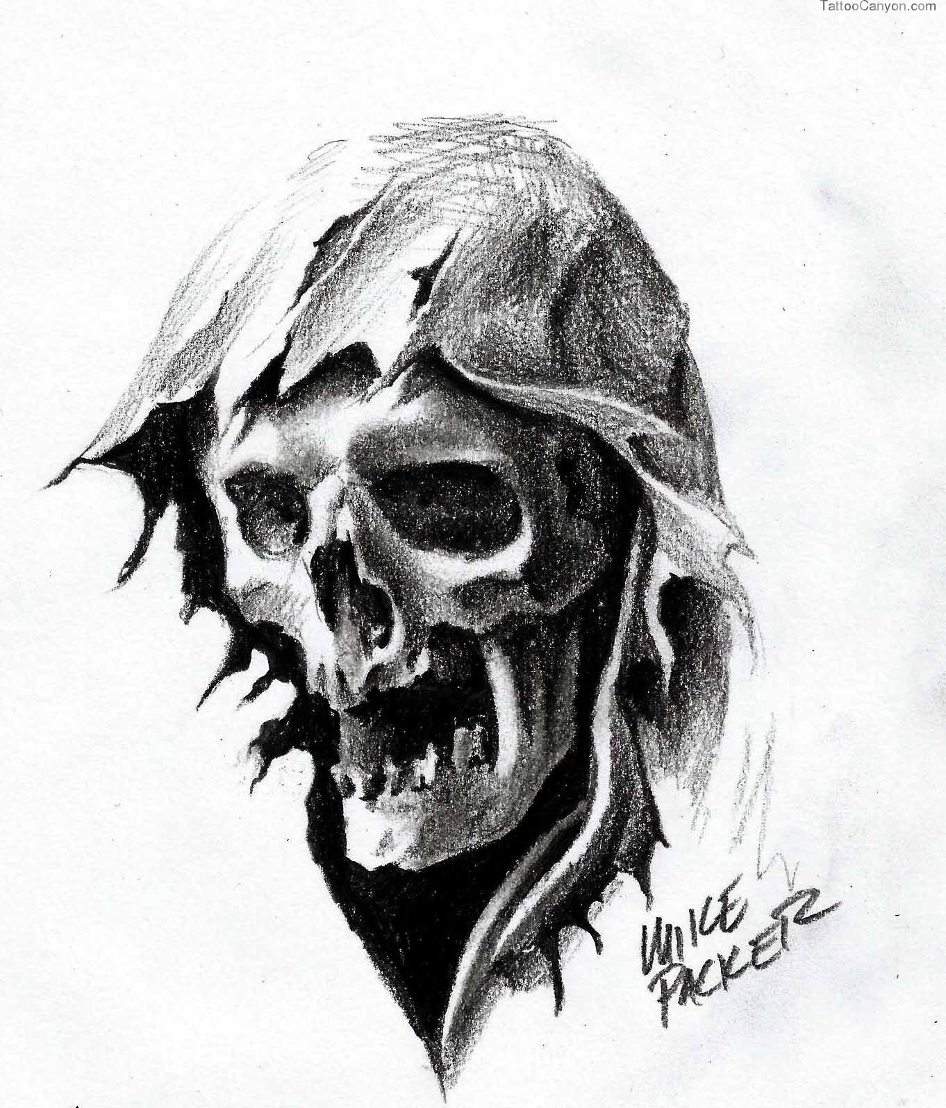 Grim Reaper Pencil Drawing