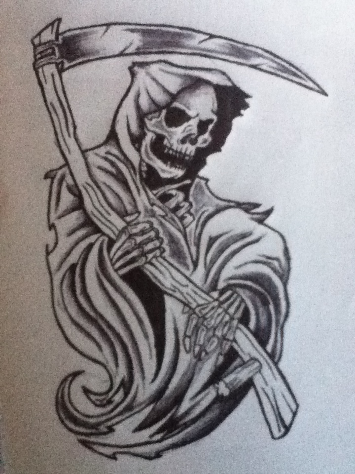 Cool Grim Reaper Sketch Images amp Pictures Becuo