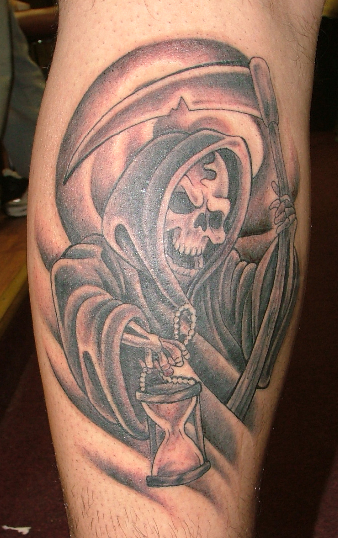 Grim reaper tattoos designs and ideas page 6 shark outline tattoos