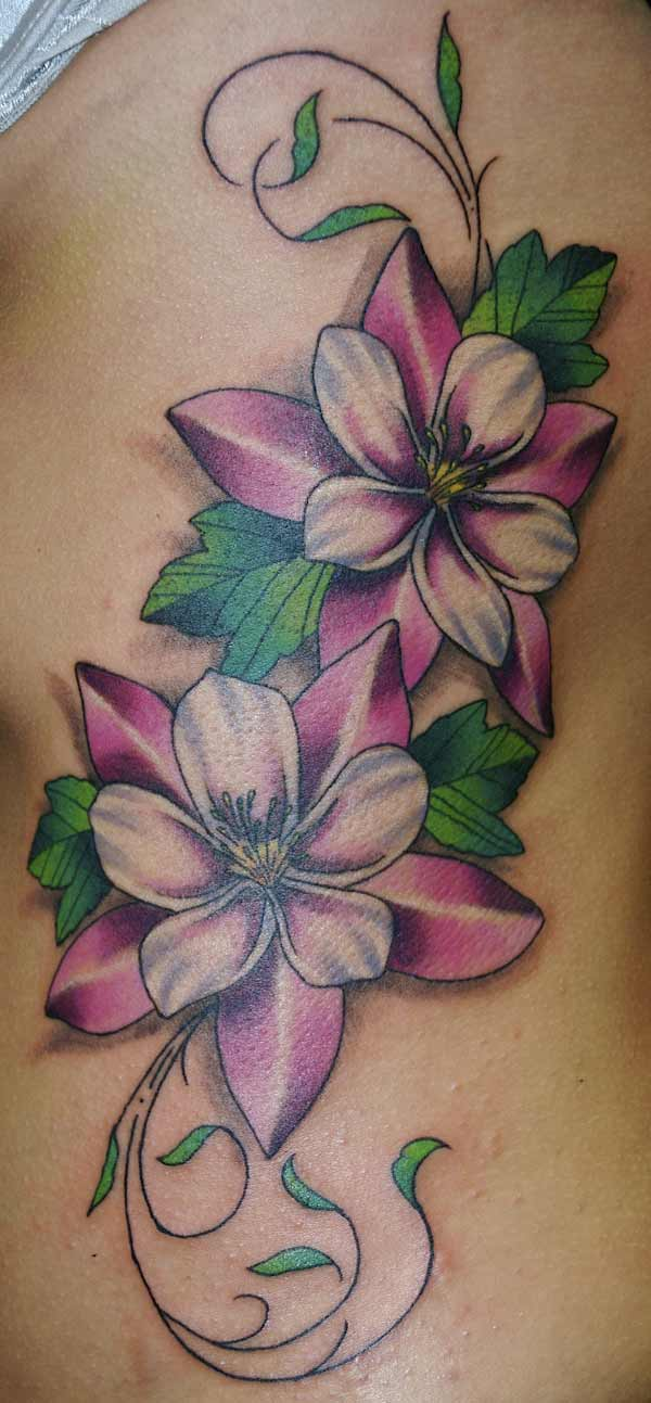 Groovy Flowers Tattoo Design
