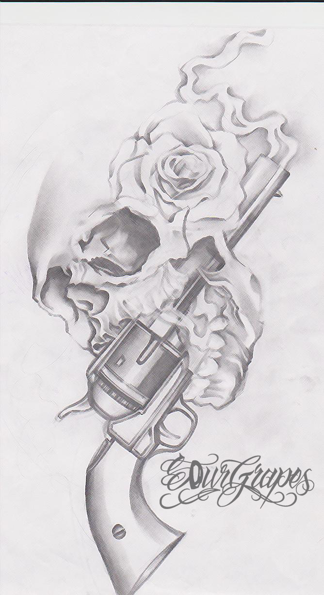 Fotos  Guns And Roses Tattoo Skull Mexican Dragon Designs Wrist On