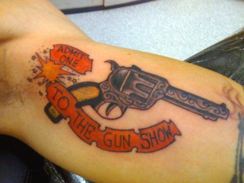 Gun Show Tattoo Design