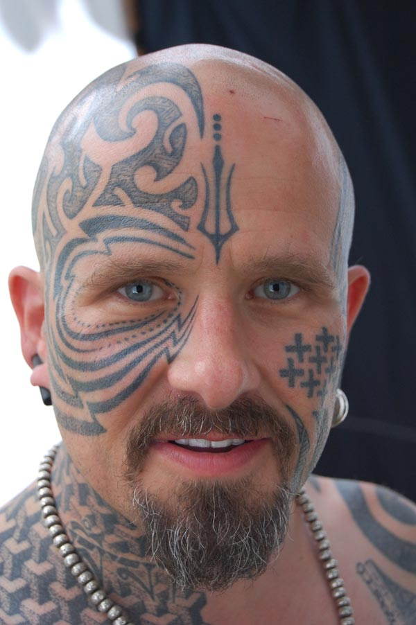 Guy With Awesome Eyes n Head Tattoo Design