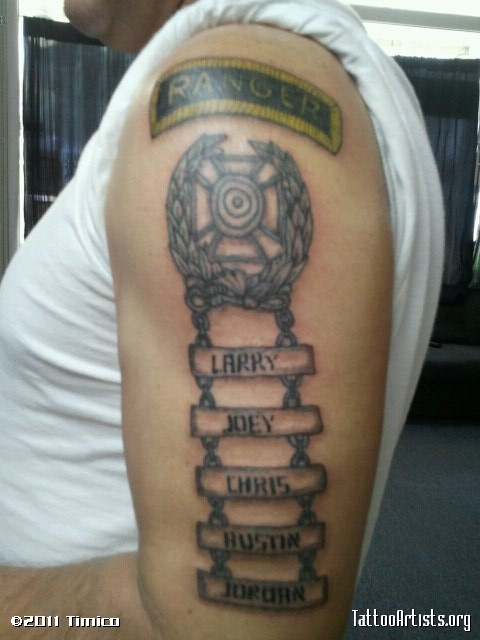Half Sleeve Army Ranger Tattoo