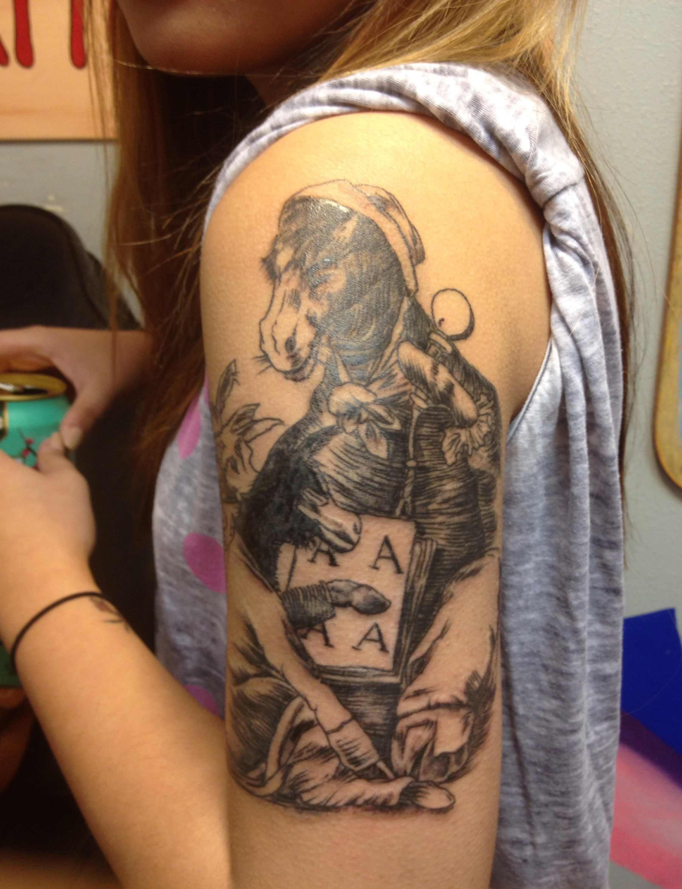 Half Sleeve Cowboy Tattoo For Girls