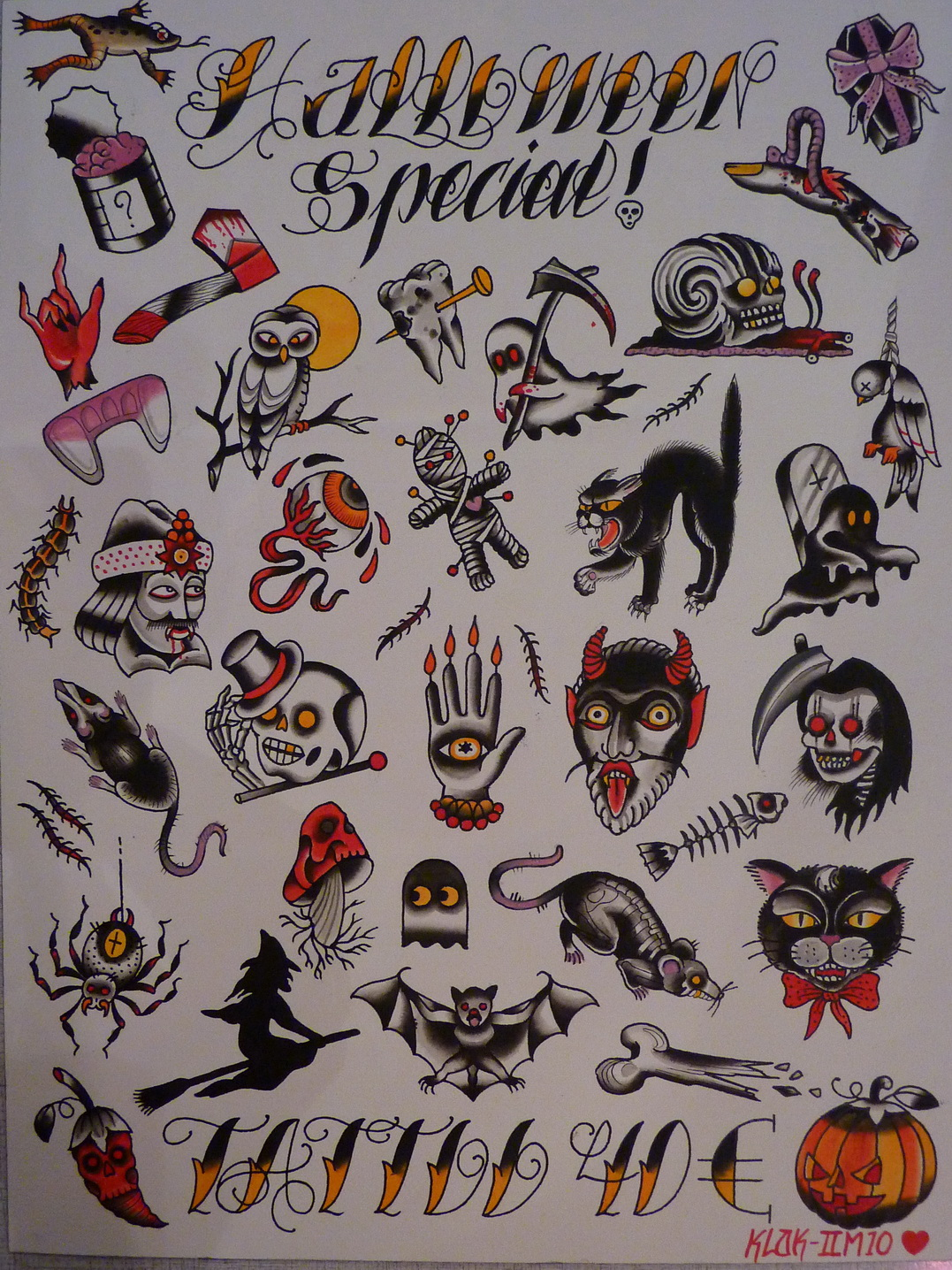 Halloween Tattoos, Designs And Ideas : Page 7