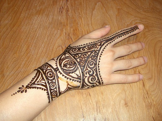 Hand Henna Tattoo Design