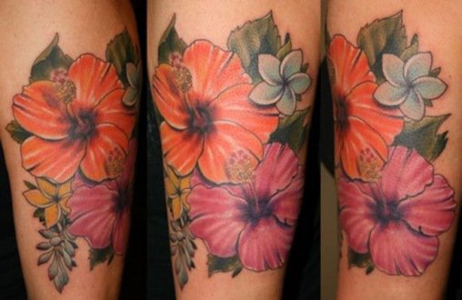 Hawaiian Flower Tattoo Design