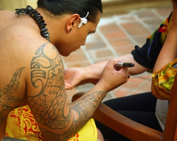 Hawaiian n Polynesian Tattoo On Sleeve