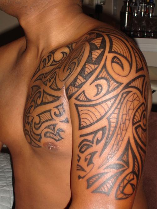 Hawaiian Tribal Tattoo Design For Men