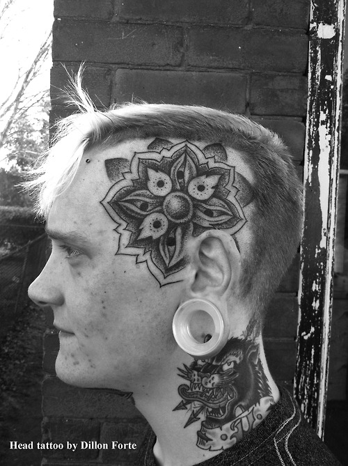 Head Dotwork Tattoo Design