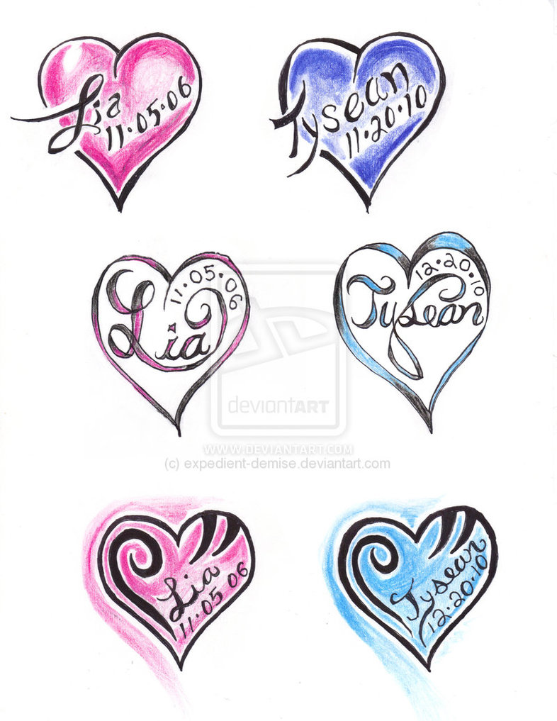 heart tattoos designs and ideas page 30