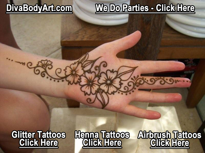 Henna Tattoo Art On Hand