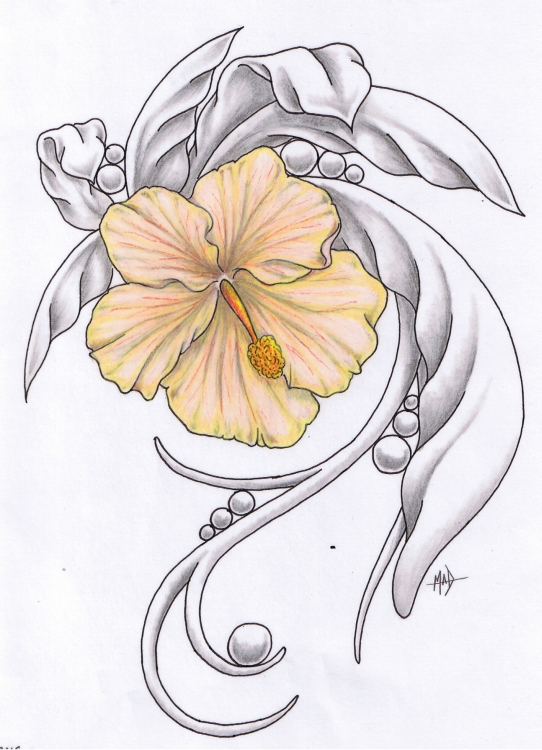 Hibiscus Tattoos Designs And Ideas  Page 6