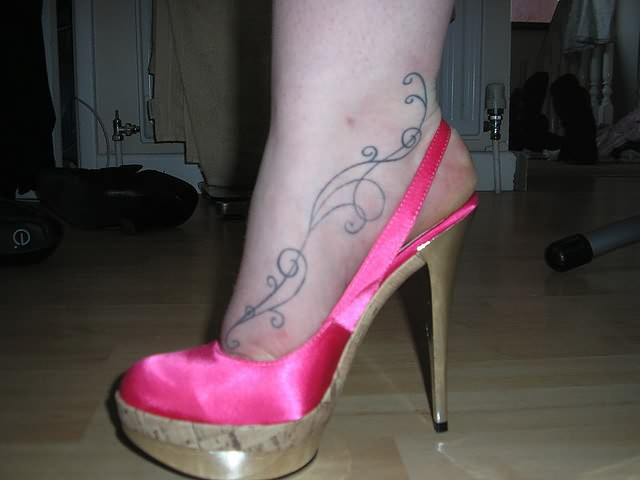 High Heel Sandal n Tattoo Design