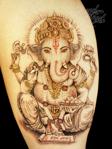 Hindu Ganesha Tattoo Design