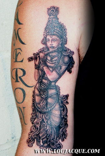 Hindu Tattoo On Upper Arm