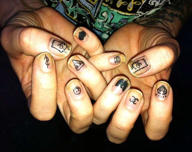 Homemade Nails Tattoo Designs