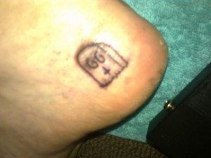 Homemade Tattoo On Heel