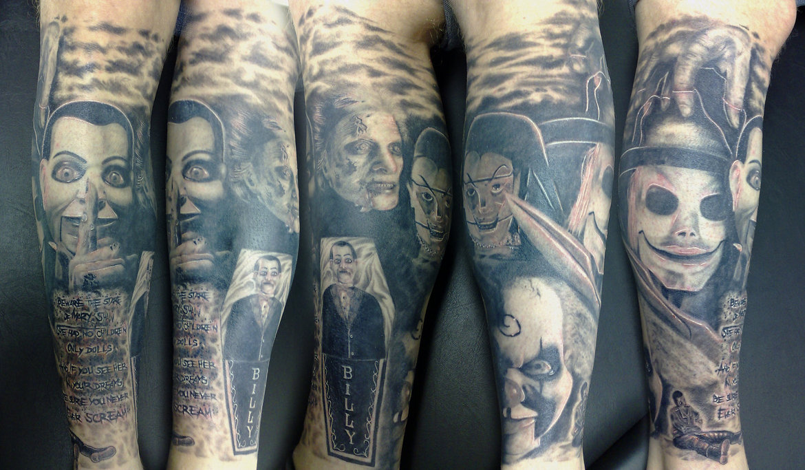Horror Sleeve Tattoos Images & Pictures - Becuo