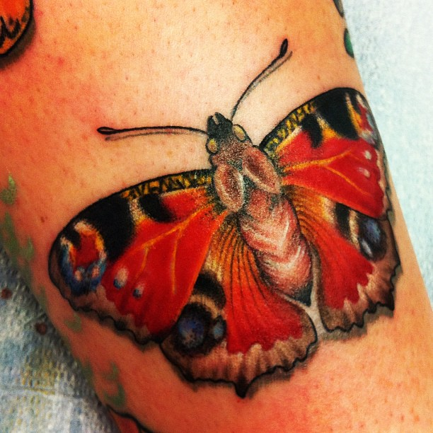 A Red Butterfly Tattoo