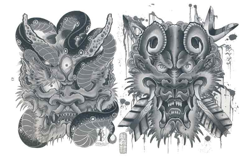 Aaron Bell Japanese Tattoo Designs And Sketches