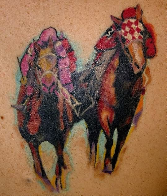 Abstract Race Horse Tattoo Design