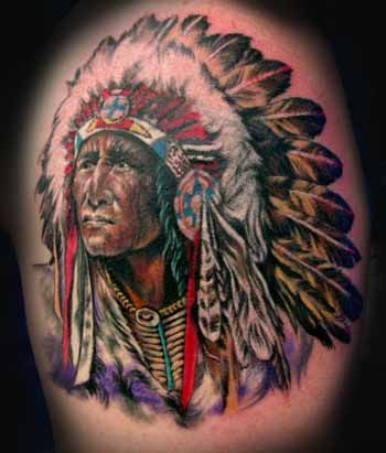 American Indian Tattoo Design