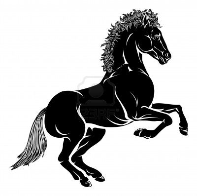 An Illustration Of A Stylized Horse Perhaps A Horse Tattoo Sample