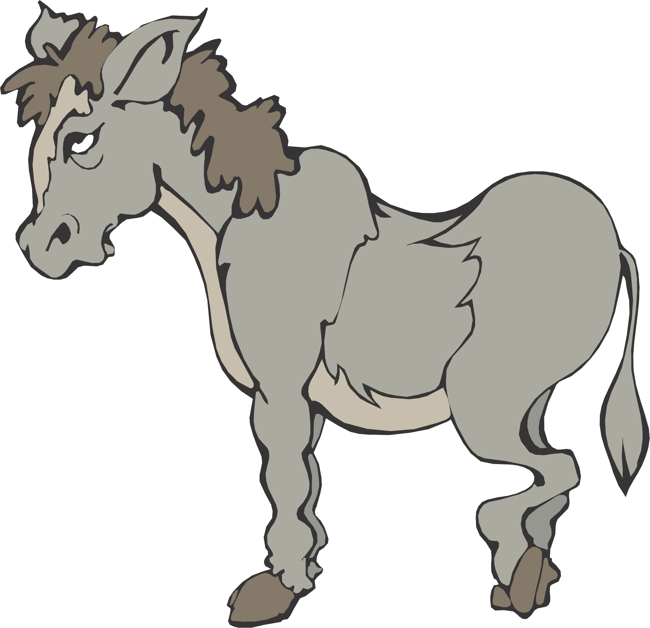 Angry Cartoon Horse Tattoo Design