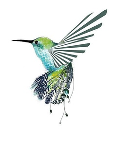 Another Hummingbird Tattoo Design