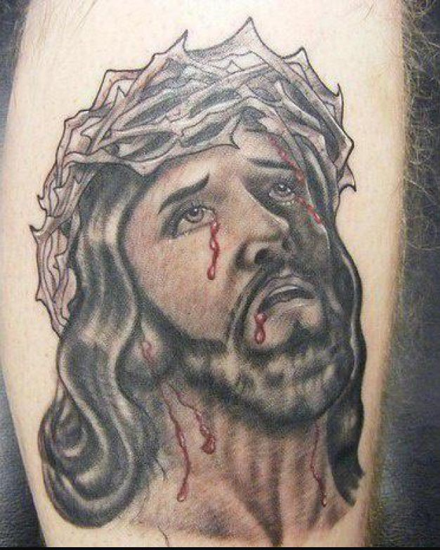 Bleeding Jesus Tattoo