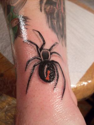Charming Spider Tattoo On Ankle