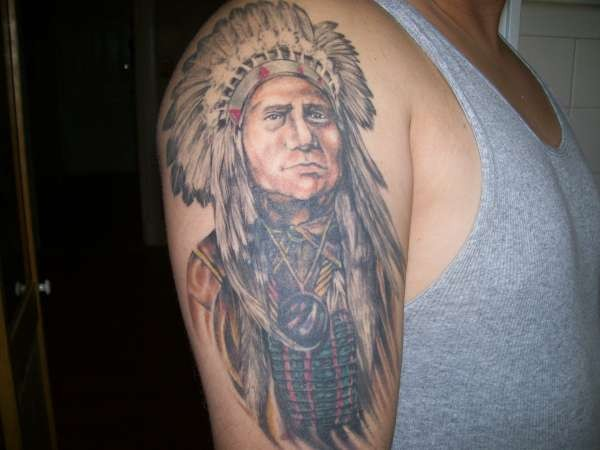 Cherokee Indian Tattoo For Men