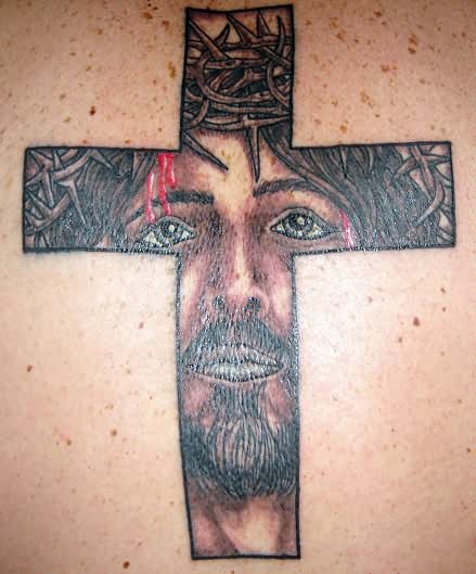 Christ Jesus Cross Tattoo Design
