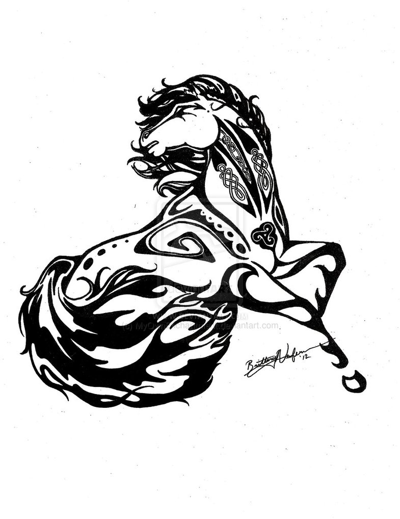 Custom Horse Tattoo Design