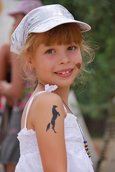 Cute Horse Tattoo On Shoulder For Cute Girls