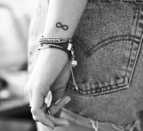 Cute Infinity Symbol Tattoo On Wrist