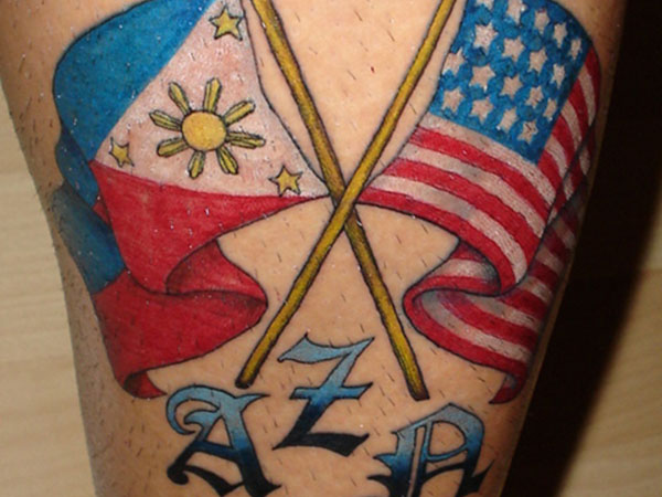 Filipino Flag Tattoo Design