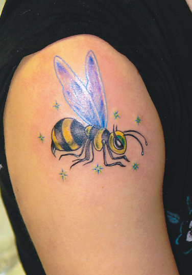 Fly Insect Tattoo On Shoulder