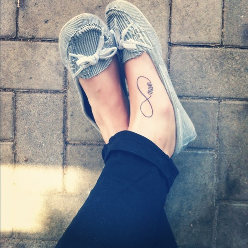 Foot Infinity Symbol Tattoo Design