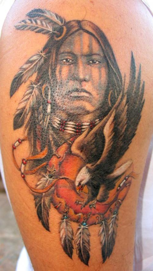 Great Indian Tattoo Design On Biceps