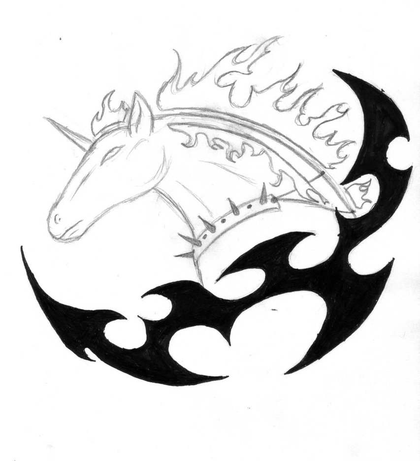 Hell Horse Tattoo Design