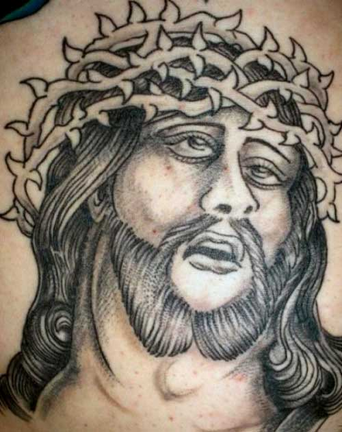 Horrible Jesus Tattoo Design