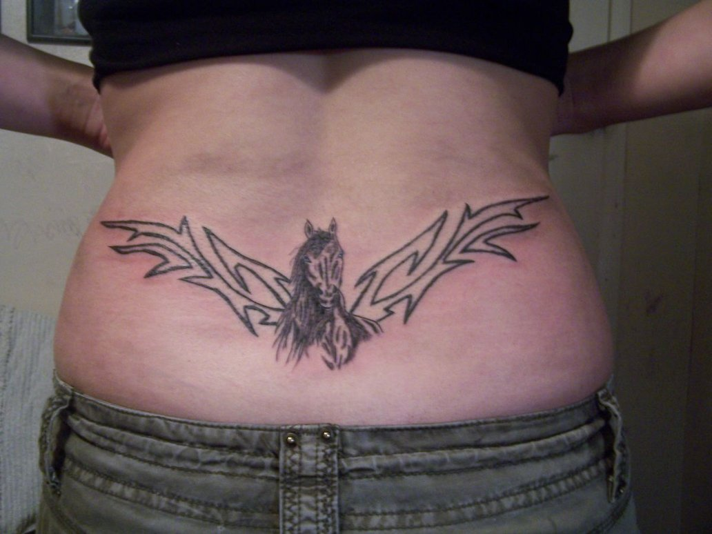Horse Tattoo For Lowerback